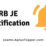 RRB JE Notification