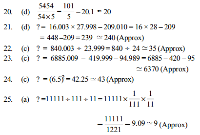 Approximation Questions for IBPS Clerk 13