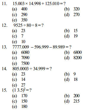 Approximation Questions for IBPS Clerk 7