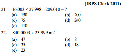 Approximation Questions for IBPS Clerk 9