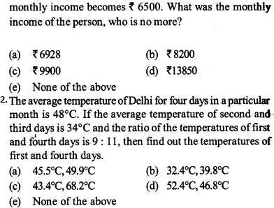 Average Questions for IBPS PO 2