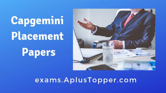 Capgemini Placement Papers