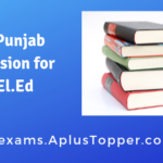 ETT Punjab Admission for D.El.Ed