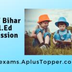 SCERT Bihar D.El.Ed Admission