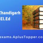 SCERT Chandigarh D.El.Ed