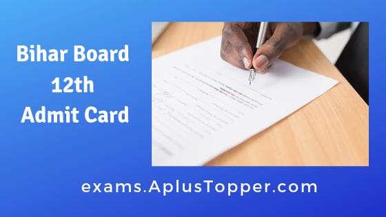 Bihar Board 12th Admit Card