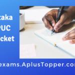 Karnataka 2nd PUC Hall Ticket