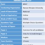NMIMS NPAT 2019