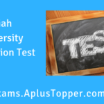 Aliah University Admission Test