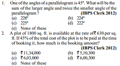Area and Perimeter Questions for IBPS Clerk 10