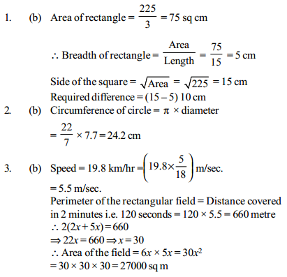 Area and Perimeter Questions for IBPS Clerk 17