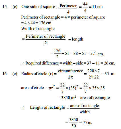 Area and Perimeter Questions for IBPS Clerk 22
