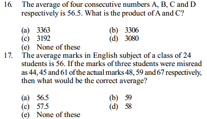 Average Questions for IBPS Clerk 13
