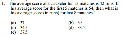 Average Questions for IBPS Clerk 5