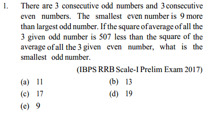 Average Questions for IBPS RRB 1
