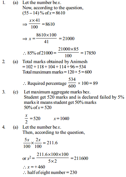 Percentage Questions for IBPS Clerk 19
