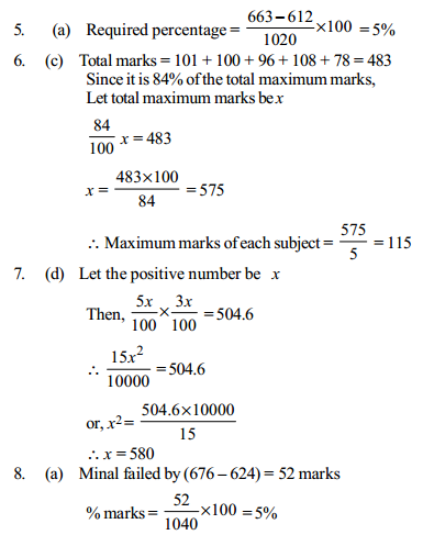 Percentage Questions for IBPS Clerk 20
