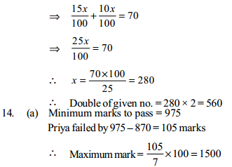 Percentage Questions for IBPS Clerk 22