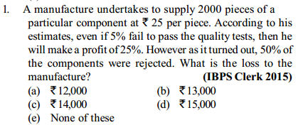 Percentage Questions for IBPS Clerk 3