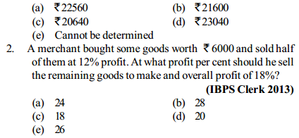 Percentage Questions for IBPS Clerk 9