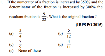 Percentage Questions for IBPS PO 5