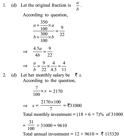 Percentage Questions for IBPS PO 8