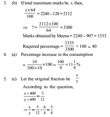 Percentage Questions for IBPS PO 9
