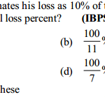 Profit and Loss Questions for IBPS Clerk 1