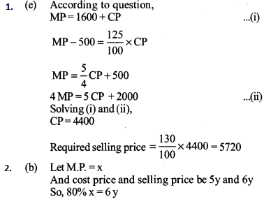 Profit and Loss Questions for IBPS PO 3