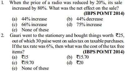 Profit and Loss Questions for IBPS PO 8