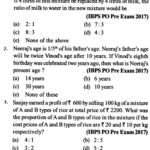 Ratio and Proportion Questions for IBPS PO 1