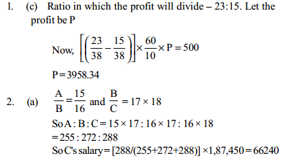 Ratio and Proportion Questions for IBPS PO 12