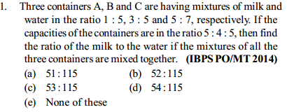 Ratio and Proportion Questions for IBPS PO 16