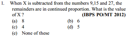 Ratio and Proportion Questions for IBPS PO 18