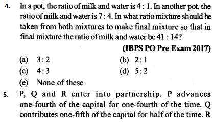 Ratio and Proportion Questions for IBPS PO 2