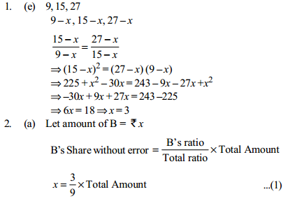 Ratio and Proportion Questions for IBPS PO 20
