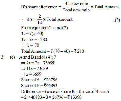 Ratio and Proportion Questions for IBPS PO 21