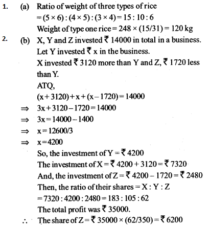 Ratio and Proportion Questions for IBPS SO 2