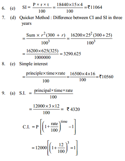 Simple Interest and Compound Interest Questions for IBPS Clerk 20