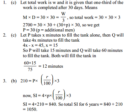 Simple Interest and Compound Interest Questions for IBPS Clerk 3