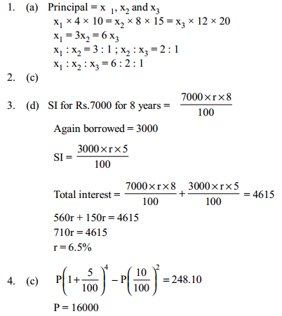 Simple Interest and Compound Interest Questions for IBPS PO 5