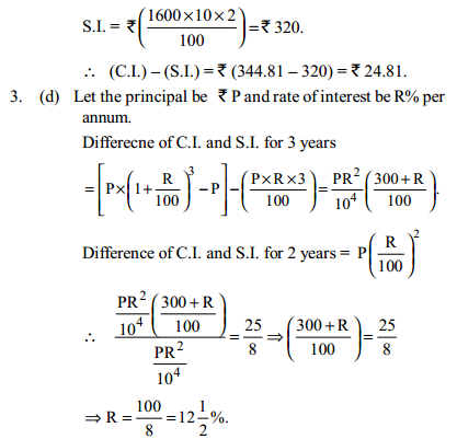 Simple Interest and Compound Interest Questions for IBPS PO 8