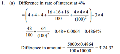 Simple Interest and Compound Interest Questions for IBPS SO 4