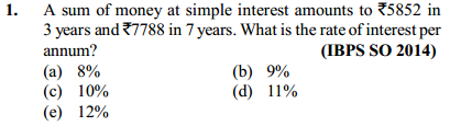 Simple Interest and Compound Interest Questions for IBPS SO 5