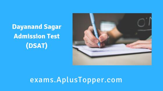 Dayanand Sagar Admission Test (DSAT)