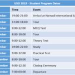 IJSO 2019 - Student Program Dates