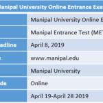 Manipal University Online Entrance Exam