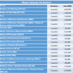 Mewar University Fee Structure