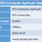 PES Scholastic Aptitude Test