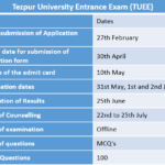 Tezpur University Entrance Exam